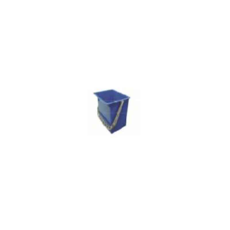Amsse PSB 6 1001 6L Blue Plastic Square Bucket with Measurements