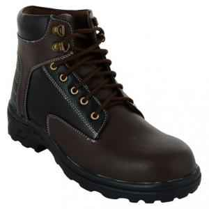 Da-Dhichi RA-06 Steel Toe Chocolate Brown Safety Boots, Size: 9