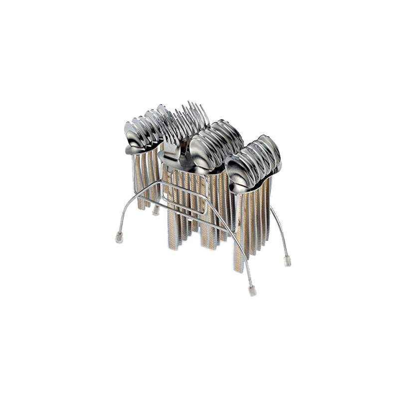 Elegante 24 Pieces Blossom Premium Diamond Spoon Stainless Steel Cutlery Set, EHP-BG024
