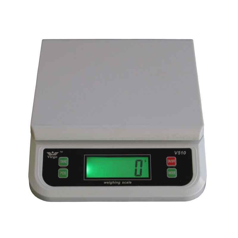 Virgo V-510 White Multi Purpose Digital Kitchen Weighing Machine, Capacity: 30 kg
