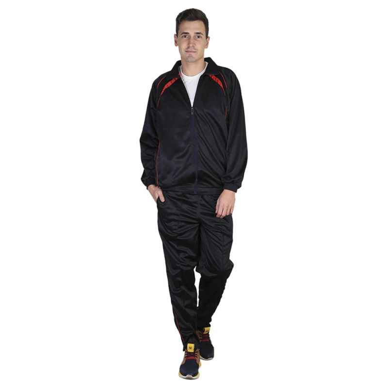 VDG T020 Black Sportswear Tracksuit, Size: 38