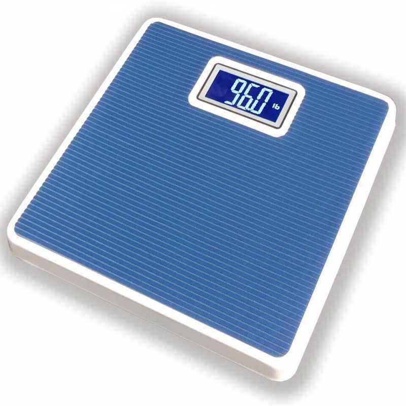 Weightrolux Digital Personal Body Weight Electronic Bathroom Weighing Scale, Blue-Square