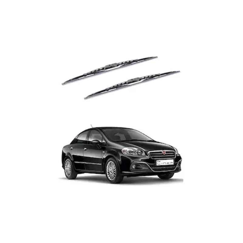 Hella WB-BK-014 Premium Black Wiper Blade Set For Fiat Linea New