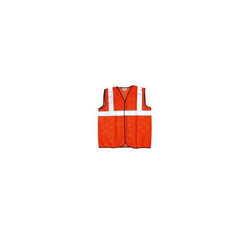 Prima 1 Inch Orange Reflector Net Safety Jacket, PSJ-03