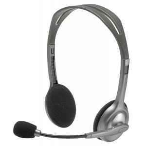 Logitech H110 Silver Stereo Headset