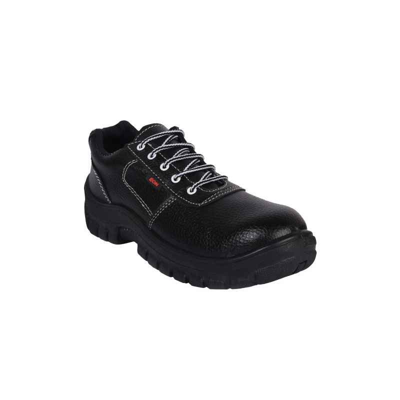 Prima PSF-22 Eon Steel Toe Black Safety Shoes, Size: 9