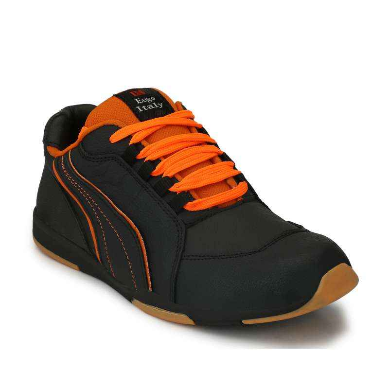 Eego Italy WW-60 Leather Steel Toe Black Safety Shoes, Size: 11