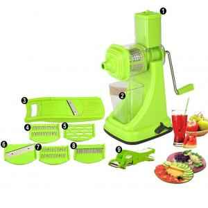 SM Combo of Green Manual Hand Juicer & Vegetable Cutter