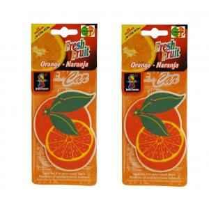 Ambro 50g Orange Hanging Air Freshener, P36 (Pack of 2)