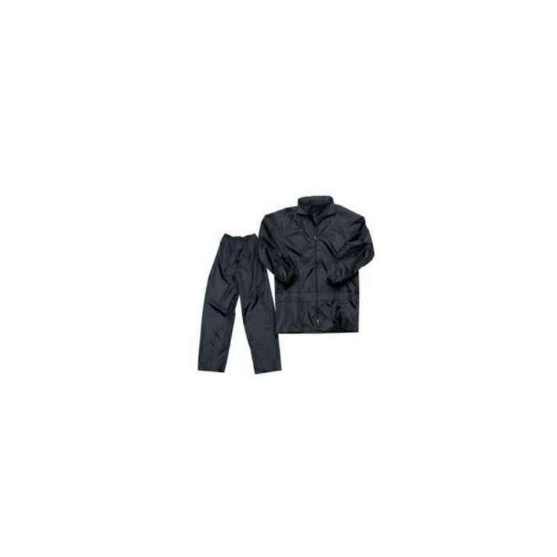 Safari Honda Black Raincoat, Size: L