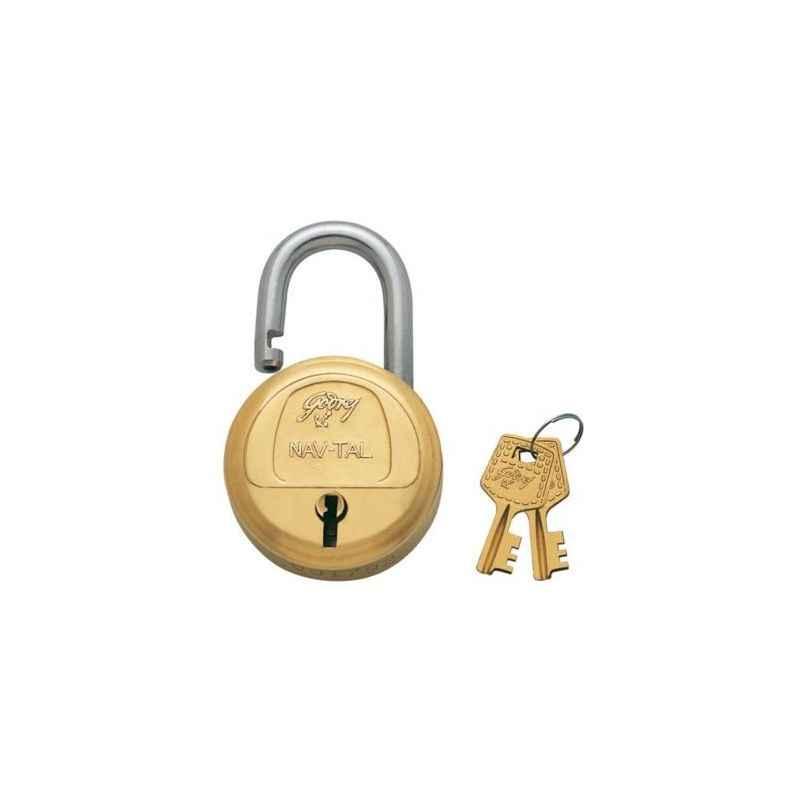 Godrej Navtal 6 Levers Brass Padlock (2 Keys), 3278