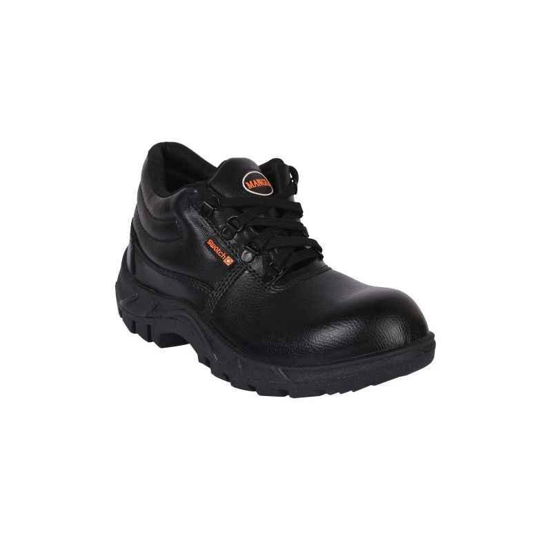 Mangla Swatch Steel Toe Black Safety Shoes, Size: 6