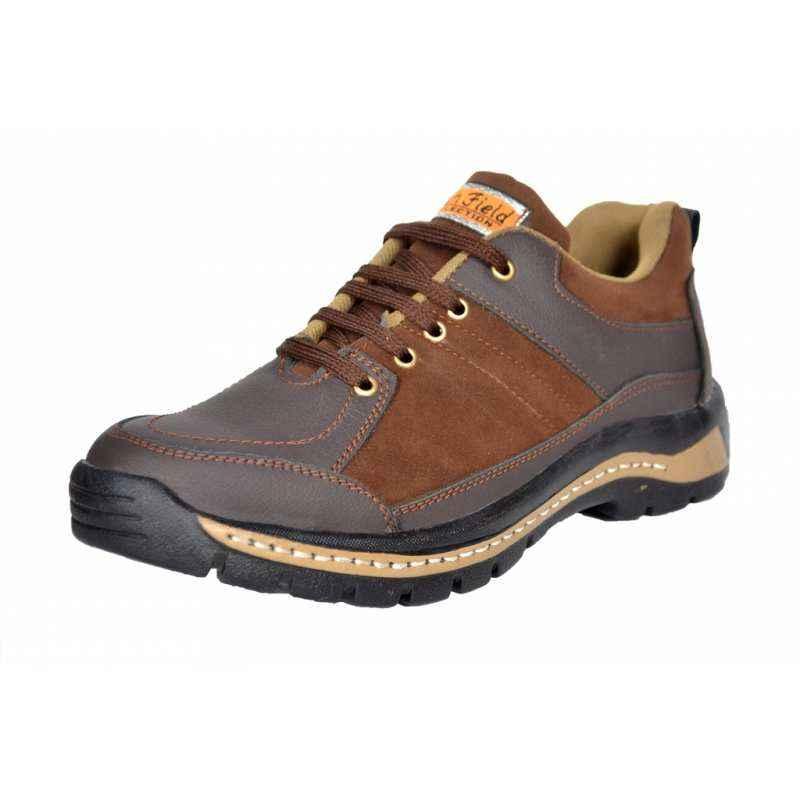 Rich Field SGS1119BRN Low Ankle Steel Toe Safety Shoes, Size: 6