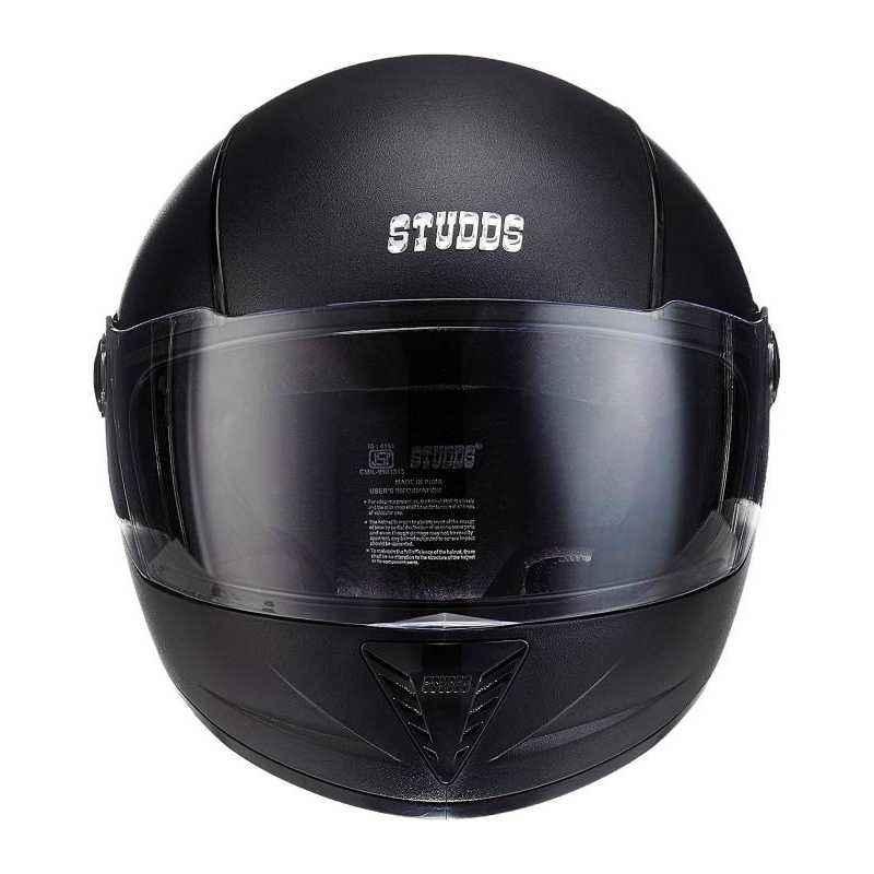 Studds Professional Black Full Face Helmet, Size (Large, 580 mm)