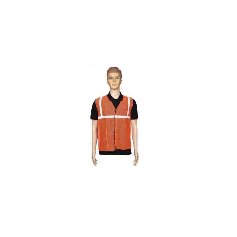 Kasa Life 1 Inch Net Type Orange Reflective Safety jacket, KL-1NO