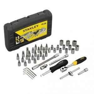Stanley 46 Pieces 1/4 inch Square Drive Metric Socket & Bit Set, STMT72794-8-12
