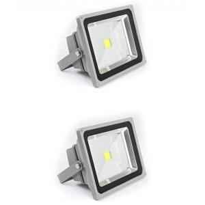 Best Deal 20W White Aluminium LED Flood Lights (Pack of 2)