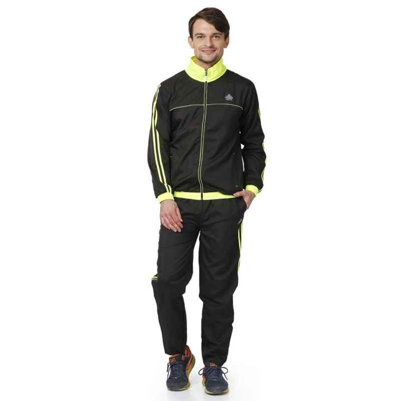 Abloom 109 Black & Parrot Green Tracksuit, Size: XL