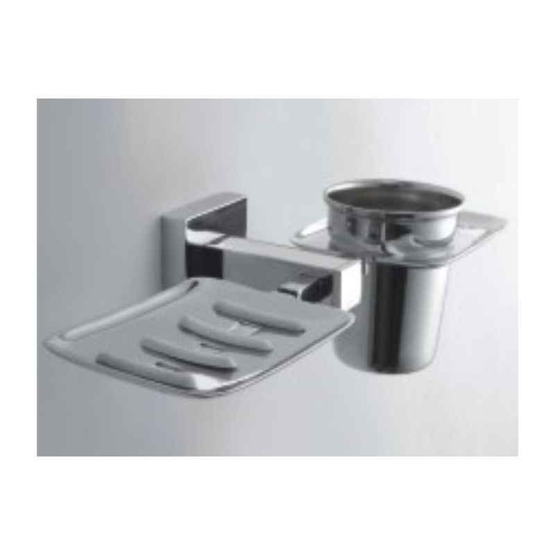 Bath Age Square Soap Dish with Tumbler Holder, JSQ 509