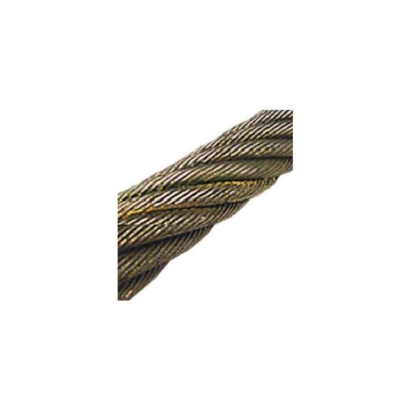 Mahadev 15mm WSC Galvanised Steel Wire Rope, Size 17x7, Length: 1000 m