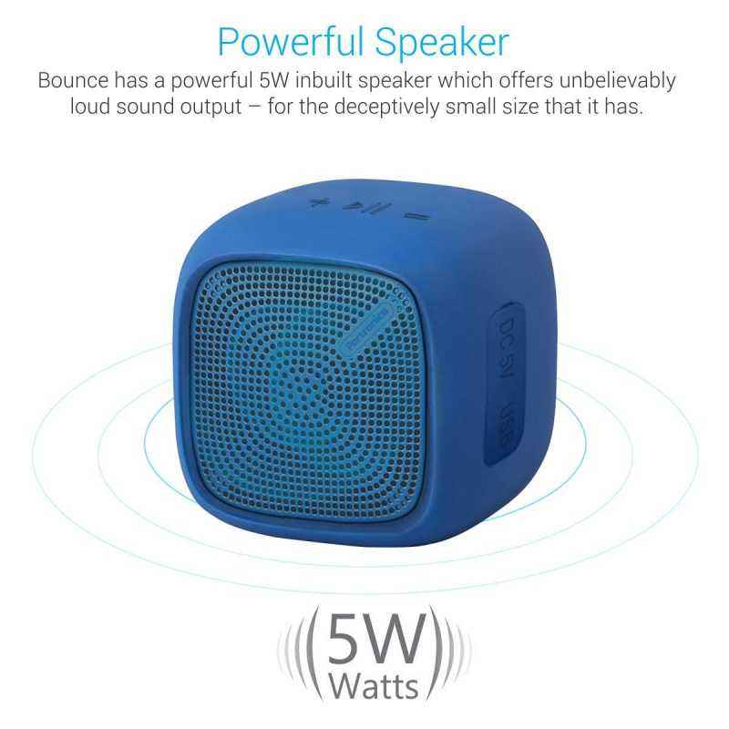 Portronics Bounce POR 952 Blue Portable Bluetooth Speaker with FM