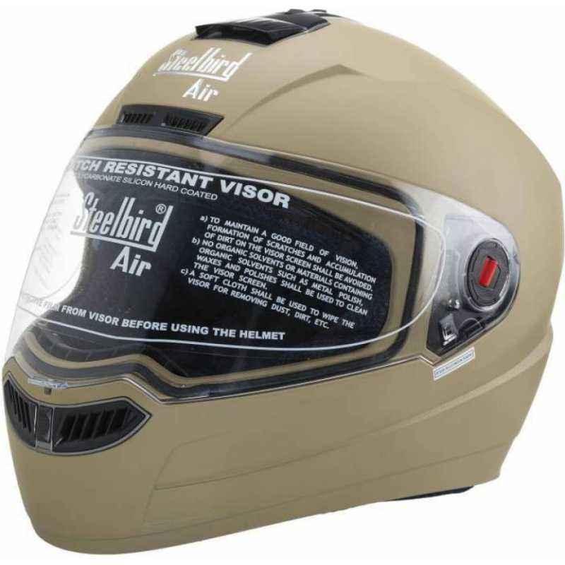 Steelbird SBA-1 Matt Desert Storm Full Face Helmet, Size (Medium, 580 mm)