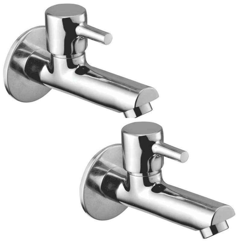 Jainex Robin Long Body Bibcock  with Wall Flange & Free Tap Cleaner, RBN-6114-S2 (Pack of 2)