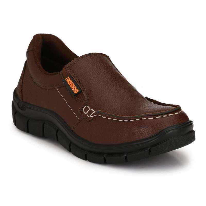 Timberwood TW28BR Steel Toe Brown Safety Shoes, Size: 7