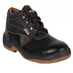 Hillson Workout High Ankle Steel Toe Black Safety Shoes, Size: 9