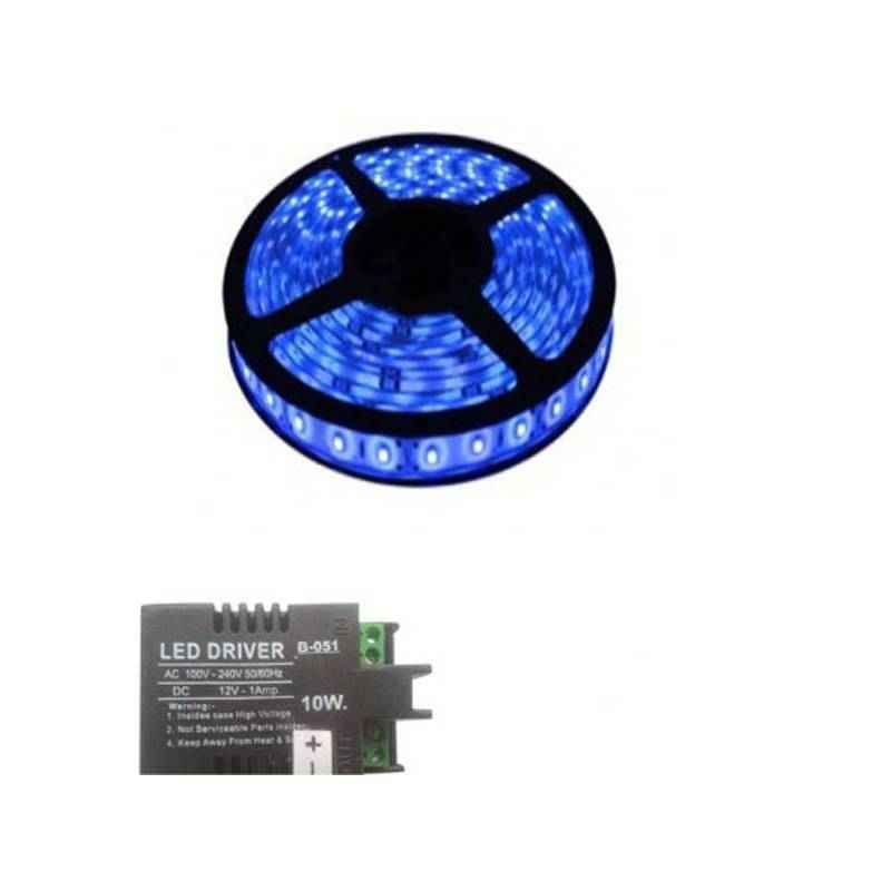VRCT 3W Blue Decorative Wall LED Strip Light with Adaptor, DL-587