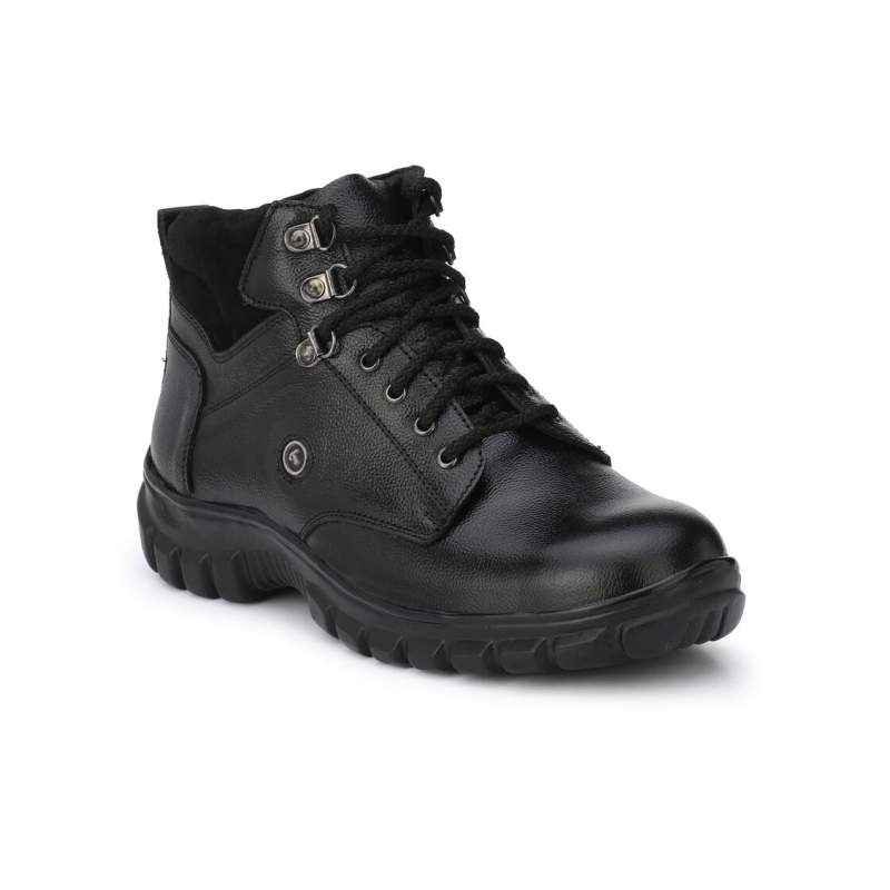 Timberwood TWLT1 Mid Ankle Steel Toe Black Safety Shoes, Size: 6