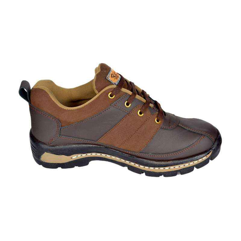 Rich Field SGS1120BRN6 Low Ankle Steel Toe Brown Safety Shoes, Size: 7