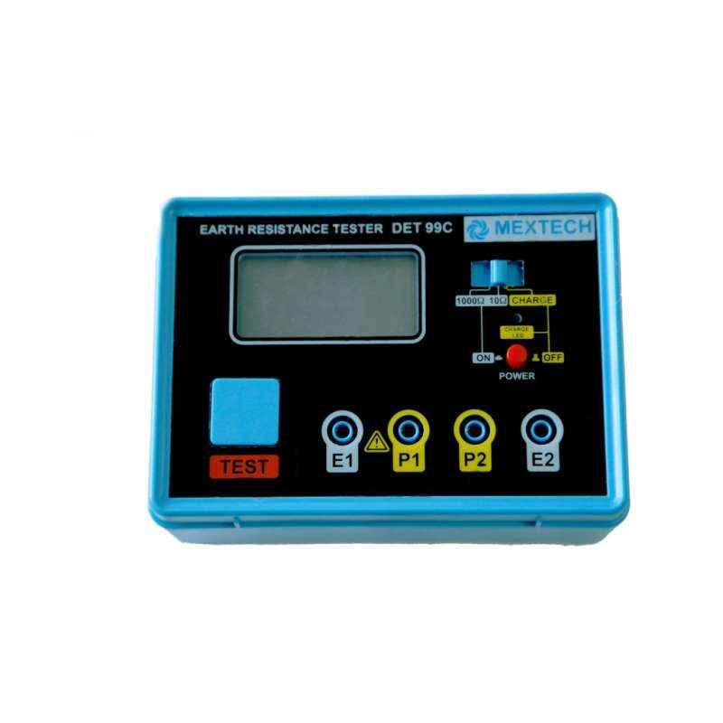 Mextech DET-99C Digital Earth Tester, Resistance Range: 0.010-1000 ohms