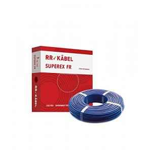 RR Kabel Superex-FR 1.5 Sq mm Blue PVC Insulated Cable, Length: 90 m