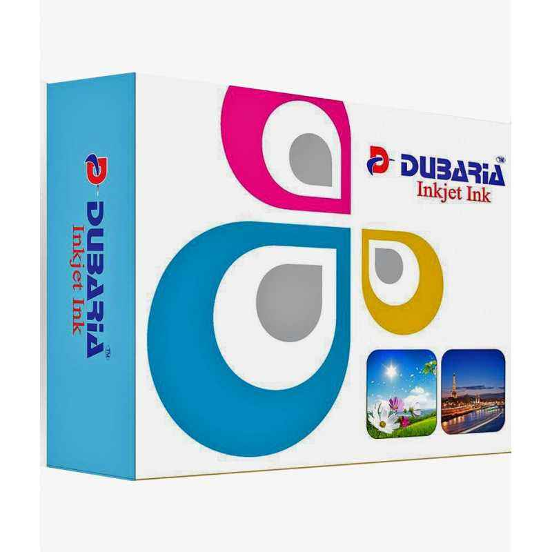 Dubaria 4 Colour Combo Premium Quality Inkjet Ink For HP Printers