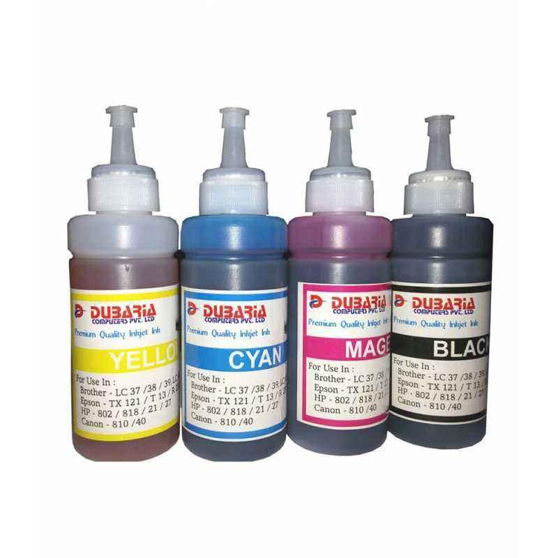 Dubaria Inkjet Printer 4 Small Ink Bottles Combo