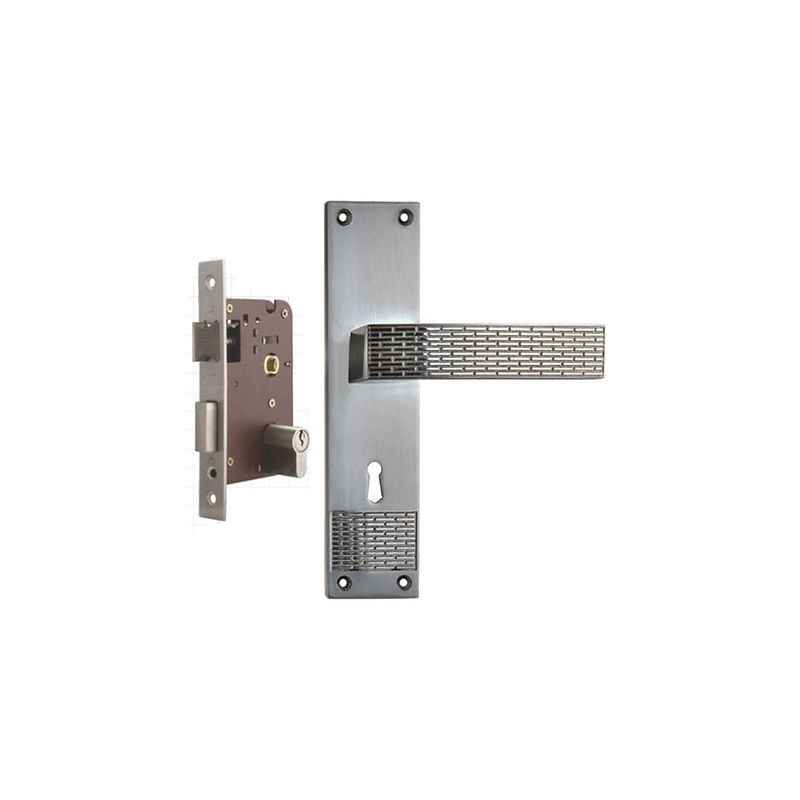 Plaza Ciaz Stainless Steel Finish Handle with 200mm Pin Cylinder Mortice Lock & 3 Keys
