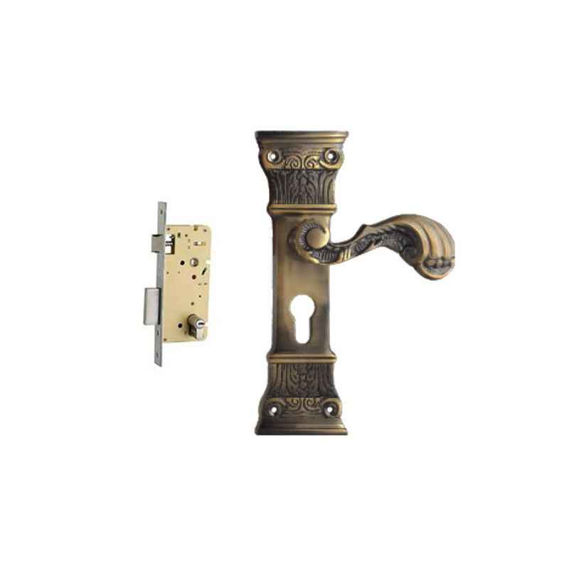 Plaza Bristol Antique Finish Handle with 250mm Pin Cylinder Mortice Lock & 3 Keys