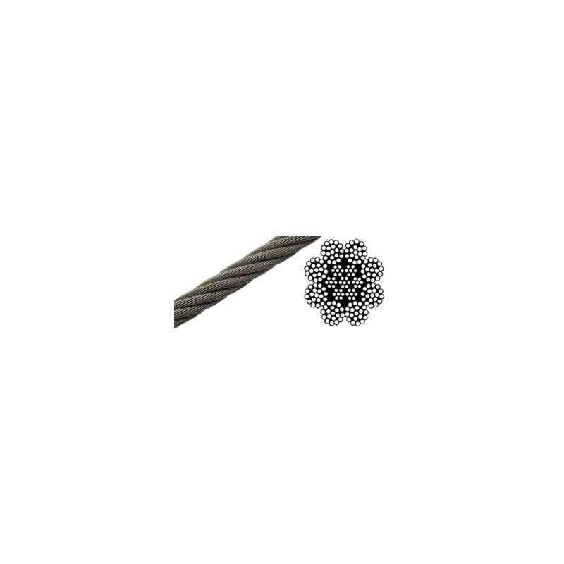 Mahadev 24mm IWRC Galvanised Steel Wire Rope, Size 8x19, Length: 1000 m