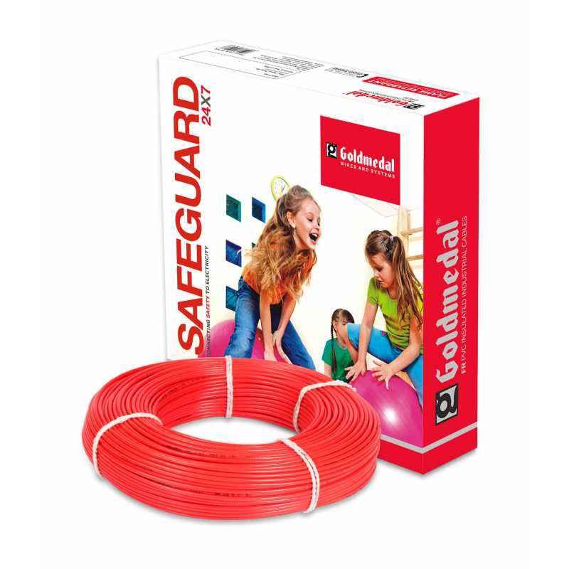 Goldmedal 90m 4 Sq mm Red FR PVC Wire