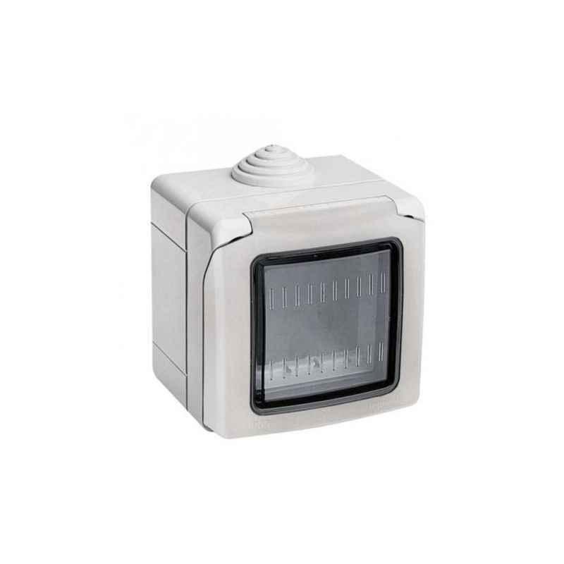 Legrand Arteor 1 Module Grey Plexo Box & Adaptor With PVC Membrane, 6806 11
