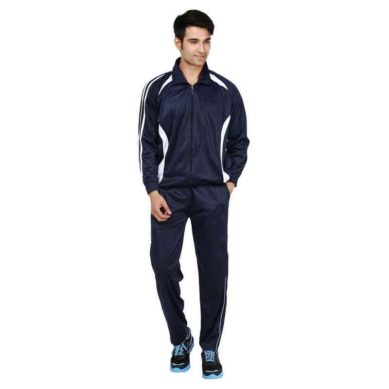 VDG T02 Navy Blue Sportswear Tracksuit, Size: 38