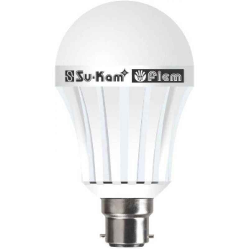 Su-kam 7W White Cool Light LED B-22 Inverter Bulb, BINV7WB22P50W