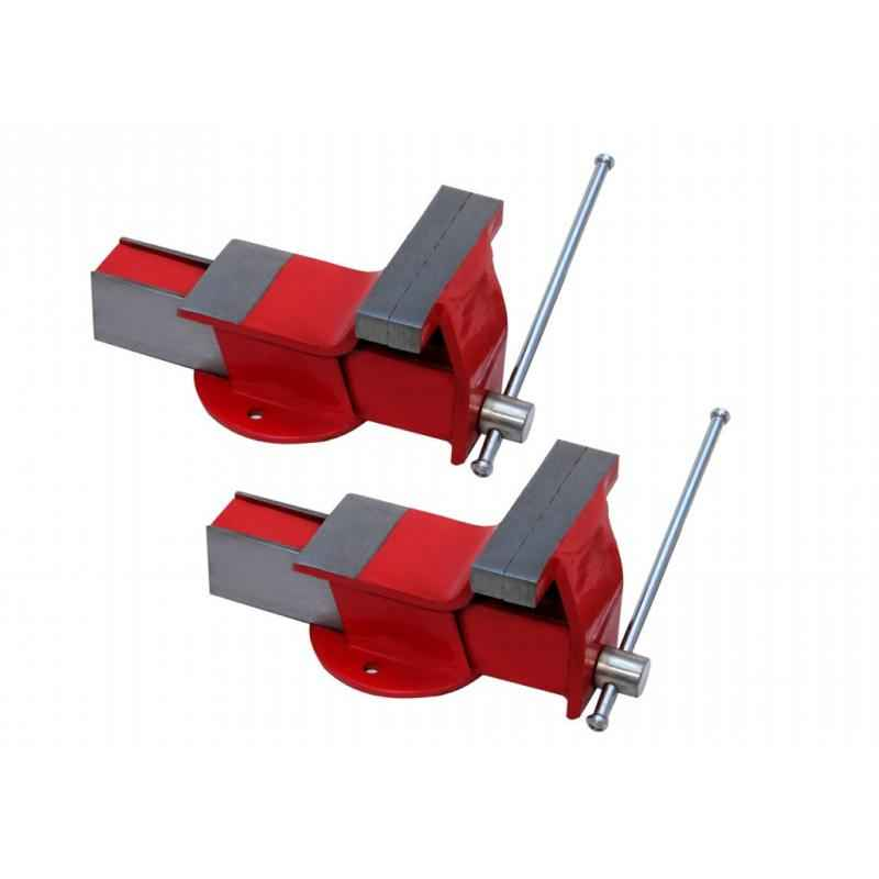 TRUST 6 Inch Steel Fixed Base Bench Vice (Pack of 2)