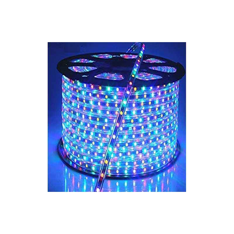 VRCT Classical 10m Multi Colour Waterproof SMD Strip Light with Adaptor, MultiColorSMD 10
