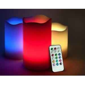 Jaz Deals Flameless Colour Changing Weather Proof LED Candle Set with Remote