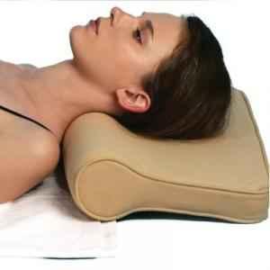Shakuntla Beige Neck Support Cervical Pillow, Size: Universal