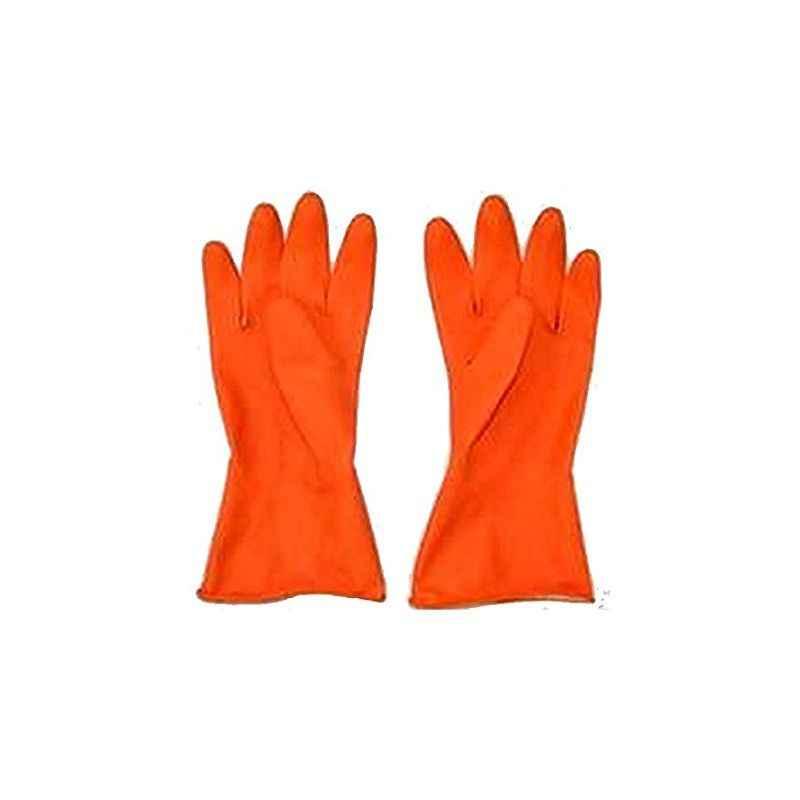 Hand Care Orange Household Gloves (Pack of 4)