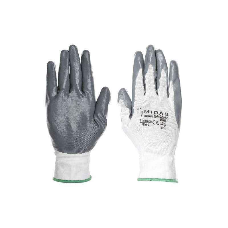 Midas GL 022 Safety Nitralon Hand Gloves, Size: 10 (Pack of 48)