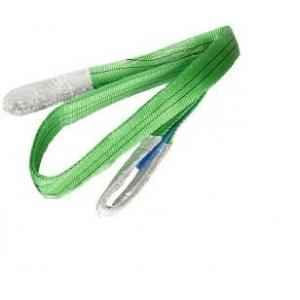 Cranlik Double Ply Polyster 2 Ton Green Webbing Slings, Length: 2 m